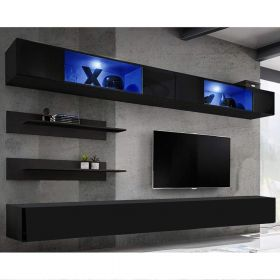 Enterprise Wall Mounted Floating Modern Entertainment Center (Size I3)