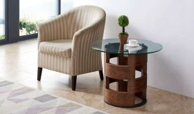 ESF 1601 Contemporary End Table in Walnut