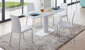 ESF 2396 Dining Table with 3450 Dining Chair Dining Set in White