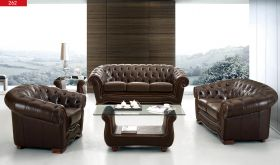 ESF 262 Leather Living Room Set in Brown