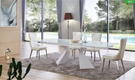 ESF 992 Dining Table with 6138 Chair Dining Set in White
