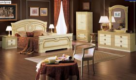 ESF Aida Italian Bedroom Set in Ivory