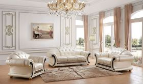 ESF Apolo Living Room Set in Pearl