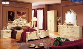 ESF Barocco Bedroom Set in Ivory Lacquer