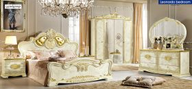 ESF Leonardo Bedroom Set in Ivory Lacquer