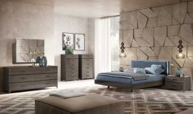 ESF Maia Modern Bedroom Set in Brown