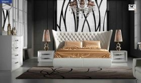 ESF Miami Modern Bedroom Set in Carmen White