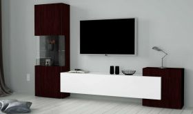 ESF New Slave Entertainment Wall Unit in White & Oak