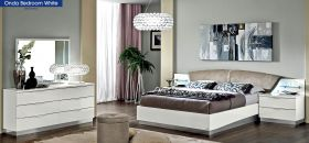 ESF Onda Bedroom Set in White Lacquer