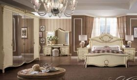 Tiziano Night Bedroom Set in Beige - Bedroom View