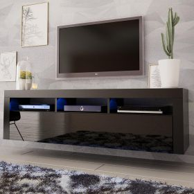 "Etta Modern Wall Mounted Floating 63"" TV Stand"