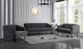Fairhope Contemporary Living Room Set in Gray