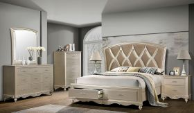 Faisal Contemporary Bedroom Set in Light Brown