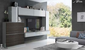 Fenicia Mobiliario Composition 10 Wall Unit in Light Grey & Grey