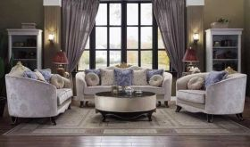 Ferndale Traditional Living Room Set in Cream