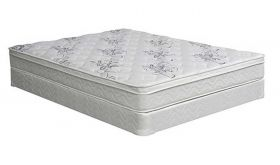 "Foote 9"" Euro Pillow Top Mattress in White"