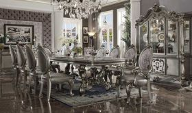 Forest Traditional Dining Room Set in Antique Platinum