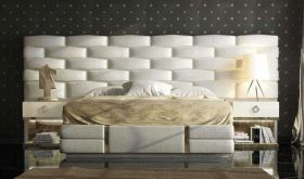 Forino Modern Bedroom Set in White & Beige