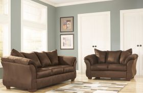 Signature Design by Ashley Darcy Living Room Set in Cafe Fabric [FSD-1109SET-CAF-GG]