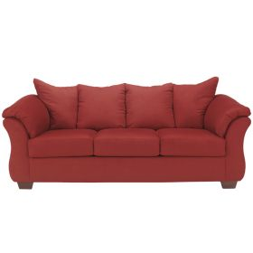 Signature Design by Ashley Darcy Sofa in Salsa Fabric [FSD-1109SO-RED-GG]