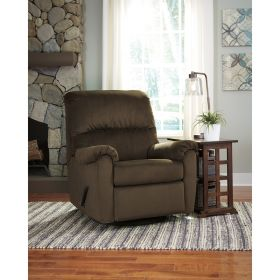 Signature Design By Ashley Bronwyn Swivel Glider Recliner in Cocoa Fabric [FSD-1119REC-GLD-COA-GG]