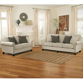 Signature Design By Ashley Milari Living Room Set in Linen [FSD-1309SET-LIN-GG]