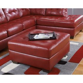 Signature Design by Ashley Alliston Oversized Ottoman in Salsa DuraBlend [FSD-2399OTT-RED-GG]