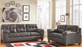 Signature Design by Ashley Alliston Living Room Set in Gray DuraBlend [FSD-2399SET-GRY-GG]