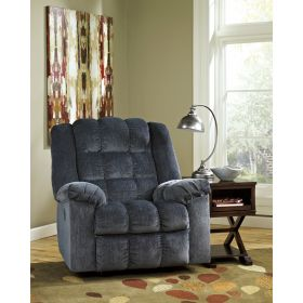 Signature Design By Ashley Ludden Power Rocker Recliner in Blue Twill [FSD-6199REC-P-BLU-GG]