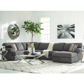 Signature Design By Ashley Jayceon 3-Piece LAF Sofa Sectional in Steel Fabric [FSD-6499SEC-3LAFS-STL-GG]