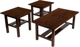 Signature Design by Ashley Lewis 3 Piece Occasional Table Set [FSD-TS3-35MB-GG]