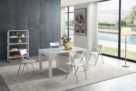 Calexico Modern Dining Set in White