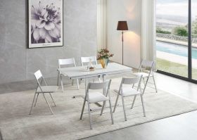 Clifton Modern Dining Set in White