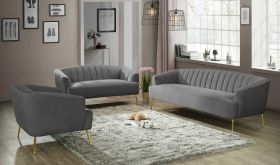 Gadsden Contemporary Living Room Set in Gray