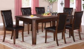Galena Contemporary Dining Room Set in Brown