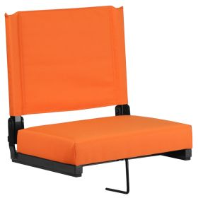 Game Day Seats by Flash with Ultra-Padded Seat in Orange [XU-STA-OR-GG]