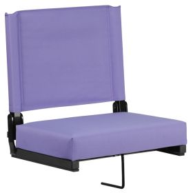 Game Day Seats by Flash with Ultra-Padded Seat in Purple [XU-STA-PUR-GG]