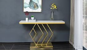 Gamila Traditional  Console Table in Golden
