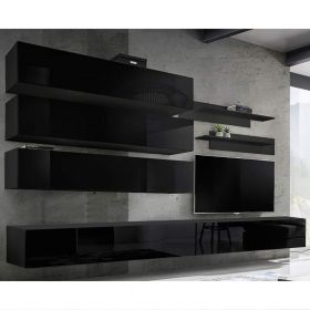 Gham Wall Mounted Floating Modern Entertainment Center (Size J1)