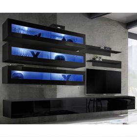 Gham Wall Mounted Floating Modern Entertainment Center (Size J2)