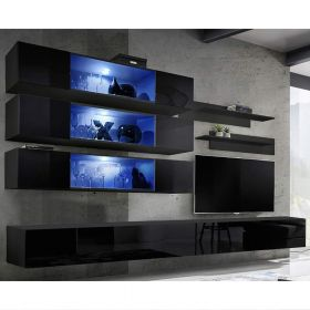 Gham Wall Mounted Floating Modern Entertainment Center (Size J3)