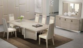 J&M Giorgio Modern Dining Room Set in Beige