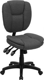 Mid-Back Gray Fabric Multi-Functional Ergonomic Swivel Task Chair [GO-930F-GY-GG]