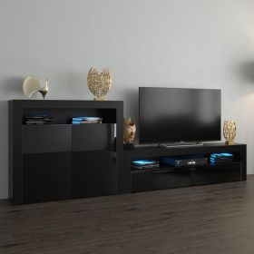 Gomery Modern Wall Unit Entertainment Center