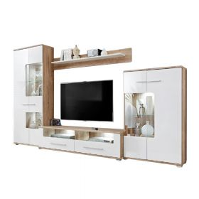 "Grace Modern 126"" Wall Unit Entertainment Center"