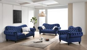 Gracie Traditional Living Room Set in Blue