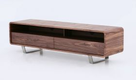 Greenwich TV Base in Walnut Veneer