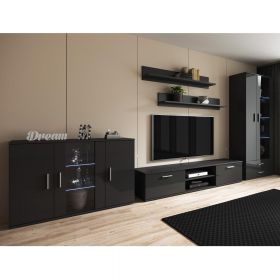 Habra Modern Wall Unit Entertainment Center