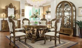Haiti Traditional Dining Room Set in Golden & Beige