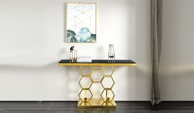 Hannah Traditional  Console Table in Golden